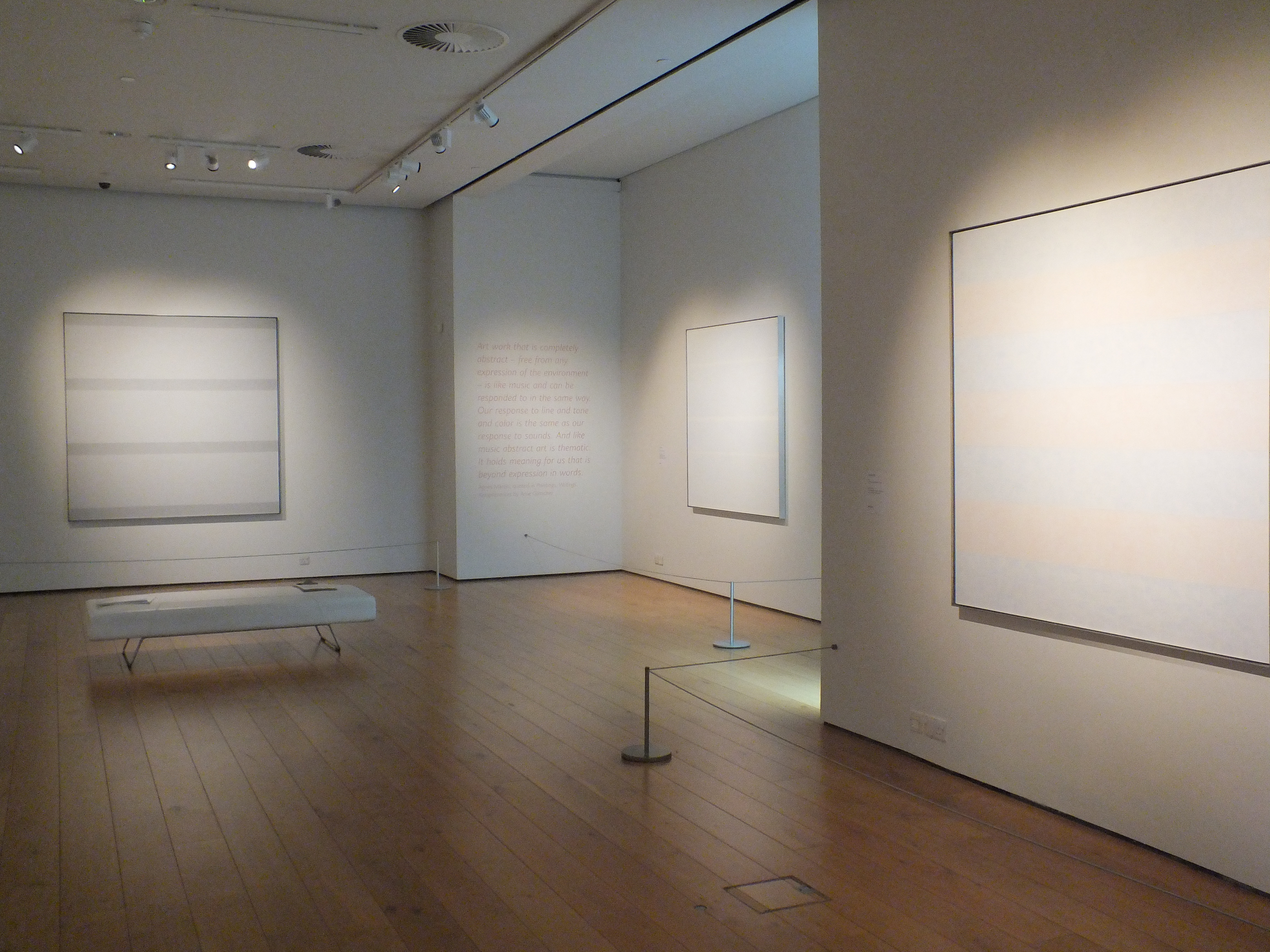 Agnes Martin at The Gallery