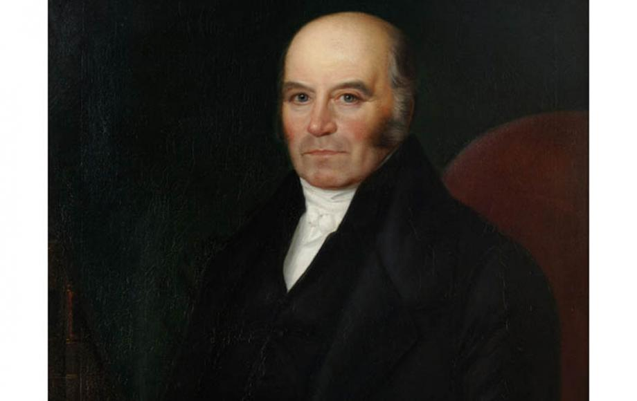 Oil Painting of Mr William Curtis of Alton by an unknown artist. Painted around 1847