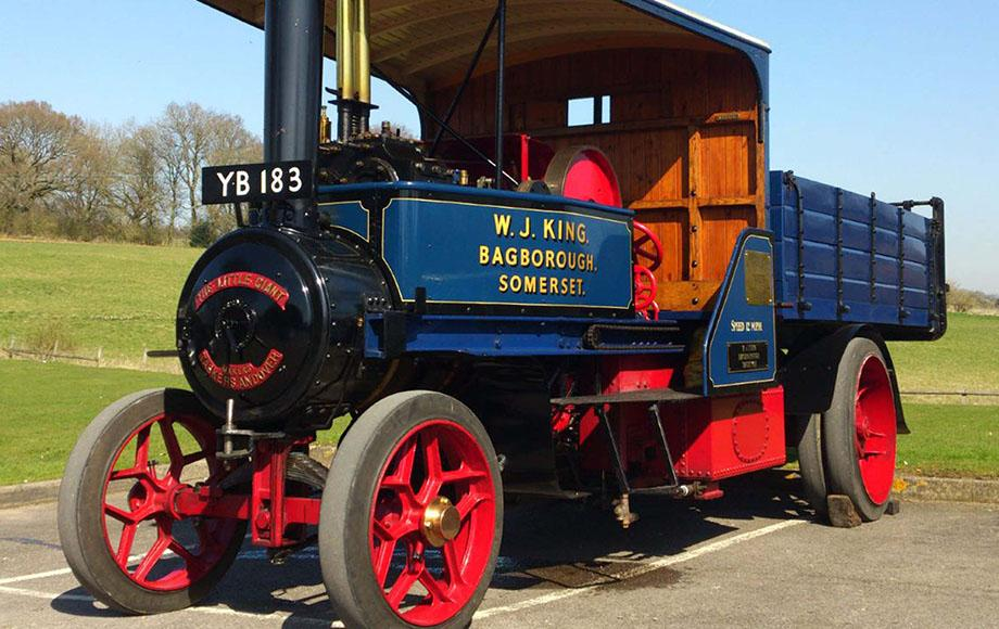 Lorry, steam lorry, Little Giant