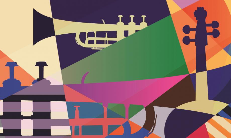 Colourful jazz themed design