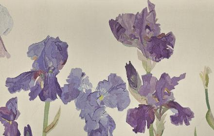 Irises (detail), 1987, tapestry © Elizabeth Blackadder, The Fleming Collection