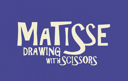 Matisse Drawing with Scissors typographical title