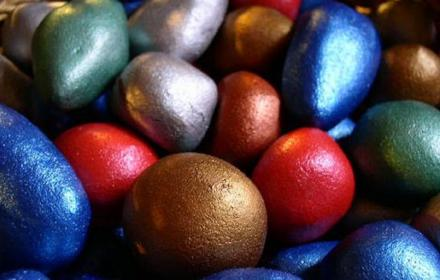 Lots of colourful eggs