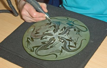 Glass engraving image