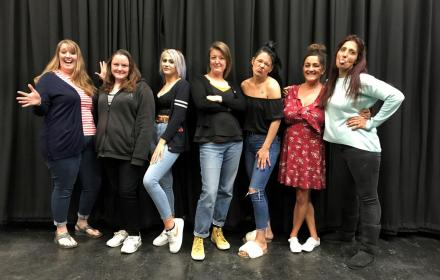Participants in the Creating Change programme from Aldershot CRC Women's Centre with BearFace Theatre