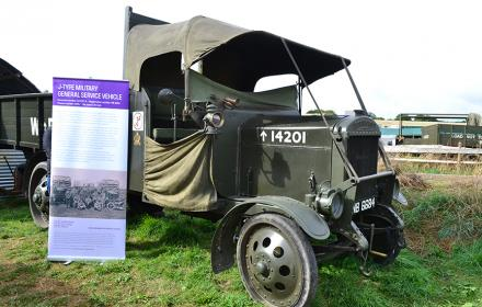 WW1 J-type on display at this year's Great Dorset Steam Fair
